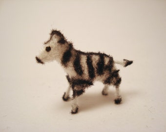 Tiny Zebra for the Dollhouse