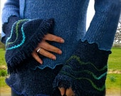 SALE-SALE-SALE-Ucycled Blue bell Sweater-One of a Kind-Recycled-Upcicled-Sale Was 75 Euro Now 35 Euro-Sale-Sale-Sale-