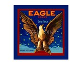 Small Journal - Eagle Brand Fruit  - Fruit Crate Art Print Cover