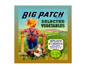 Small Blank Journal - Big Patch Vegetables - Fruit Crate Art Print Cover