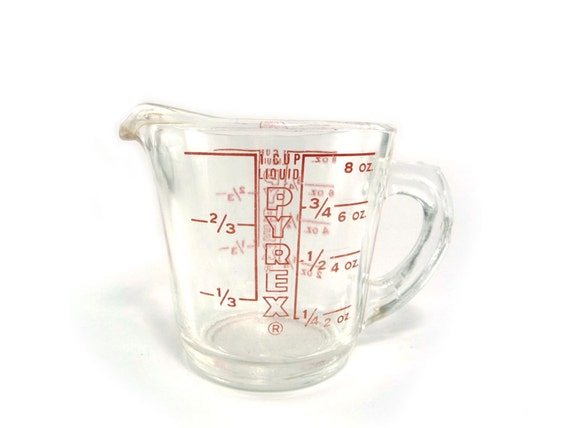 Vintage Pyrex 1 Cup Measuring Cup By Reconstitutions On Etsy