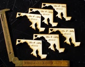 100 Maryland State Wedding Favors Custom Engraved