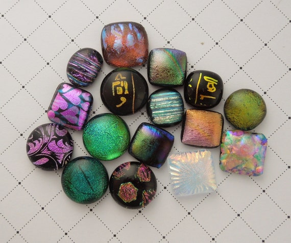 how to make dichroic glass cabochons