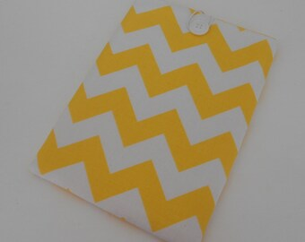 Sale - Yellow Chevron Kindle Sleeve Nook Cover E-Reader Case