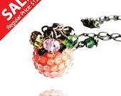 Happy Mother's Day Sale - Garden of Eden - Pink Fruit Rhinestones Crystal Necklace (Get 12% OFF)