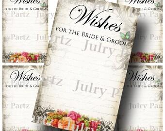 Le Jardin BOUQUET Wedding Wish Tags, Wish Tree Cards, Printable, DIY Weddings, Bridal Shower, Wedding Shower, Wedding Decoration