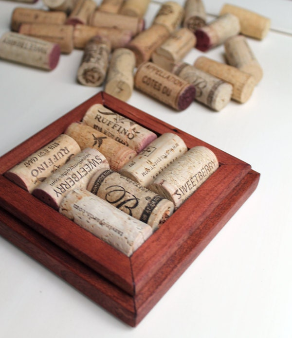 Crafts for wine corks diy coasters reclaimed wood for Cork coasters for crafts