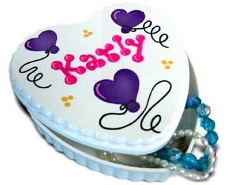 Personalized Heart Trinket/Jewelry Box
