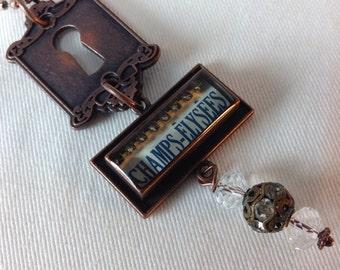 Necklace.Champs Élysées France Pendant Necklace