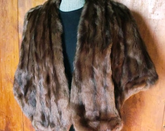 Decadent and Glamorous 1950s Mink Fur Shrug