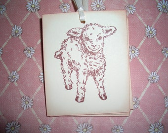 Lamb Tags - Easter - Religious - Sweet Image - Set of Six