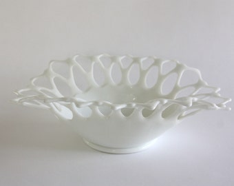 Large Vintage Milk Glass Bowl by Westmoreland