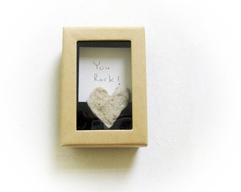 Unique Father's day card - You Rock , Gift fot Father, Gift for Dad, Heart Shaped Rock, Heart Shaped Stone, Beach Rock, Beach Stone