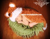 Forrest Fox- Cuddle Cape or Diaper Cover Set  -Photography Prop