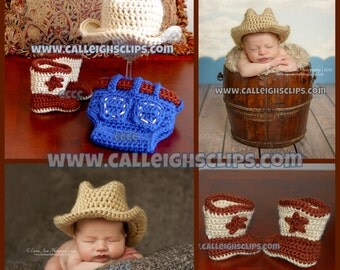 Cowboy Outfit Baby Set