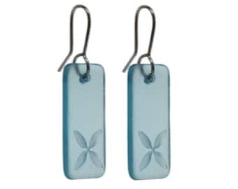 Drop Tapa Earrings Bombay Blue.