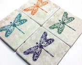 Dragonfly Tile Coasters