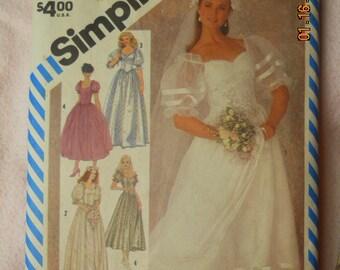 Simplicity 6241   Wedding Gown, Brides maid Dresses  Misses  Vintage