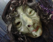 Wilhelmina - An OOAK, Folk Art, Halloween Witch - HAGUILD