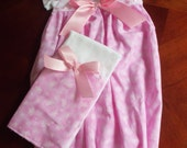 Baby Layette, Baby Gown, Gown Set, Pink with Butterflies, Coming Home Outfit, Sleep Sack, Infant Gown, Photo Prop, Baby Shower, Baby Gift