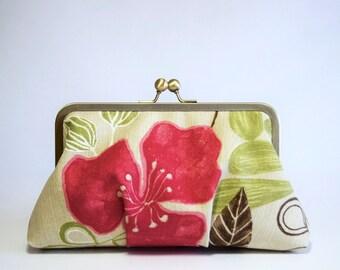Hot Pink Tropicana Clutch, wedding clutch, bridesmaid clutch, bridesmaid gift