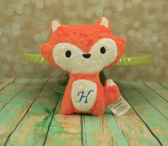 Fox Stuffed Animal - Personalized  plush, softie, stuffed  toy - Choose from 30 Color Options