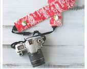 ruched camera strap cover - sweet watermelon