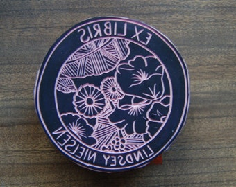 Custom Library Stamp - 3 inch round - Choose a Design