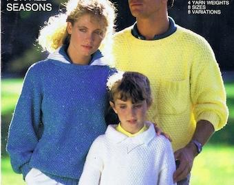 Original Vintage Knitting Book by Bernat, 1980s Women's Sweaters