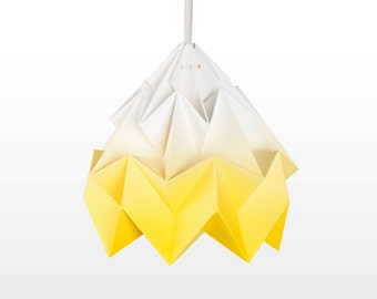 Moth origami lampshade gradient yellow