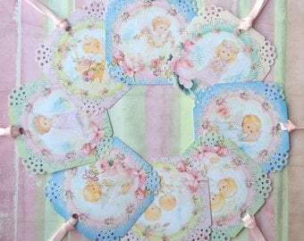 Little Heavenly Babes Gift Tags set of 8 No. 90