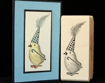 little party chick rubber stamp