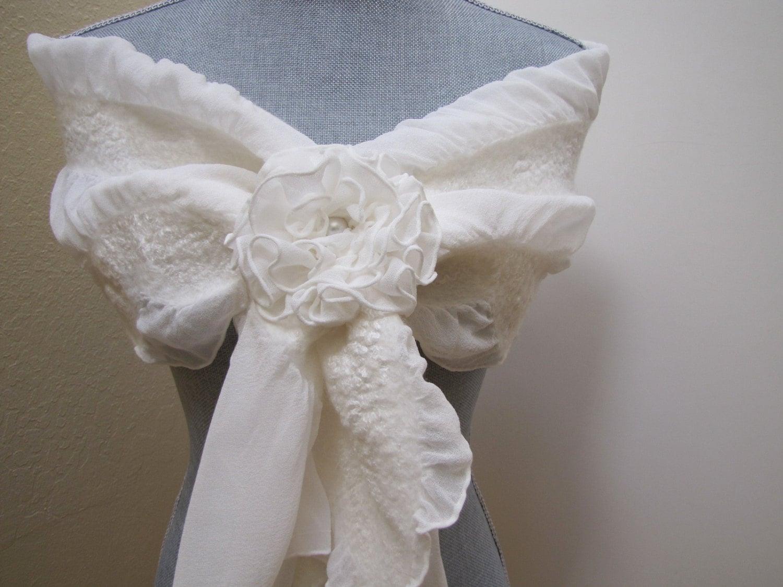 ivory shawl scarf wrap wedding scarf cover up bridal shrug