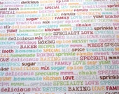 The Paper Studio Sugar and Spice 12x12 Card Stock - Baking Text