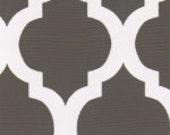 Fabric Finders Quatrefoils Cotton Fabric Grey