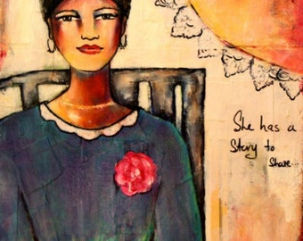 She has a Story to Share, archival fine art print