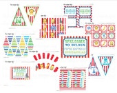 Circus Birthday Party Collection-  Printable Full Collection //CI-03
