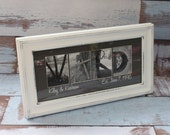Any Size Custom Name Frame - Letter Art Photography - Choose Your Frame, Matting and Photos - Housewarming/Birthday Gift