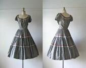 vintage 1950s dress / 50s dress / Ballet Folklorico