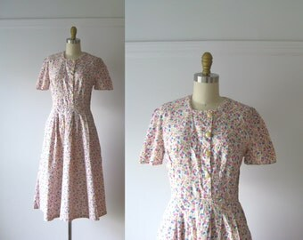 vintage 1940s dress / 40s dress / A Shady Lane
