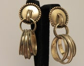 1940s Vintage BERGERE Hoop Clip Earrings