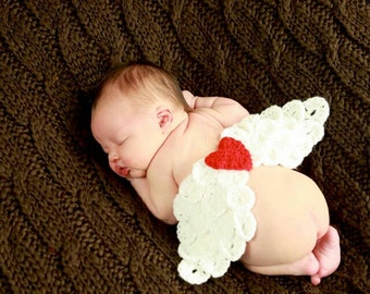 Valentines Day - Crochet Angel Wings - Photography Prop - Made With or Without Heart