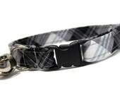 Plaid Cat Collar- Black and White Plaid