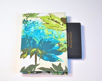 Passport Cover Sleeve Case Holder Amy Butler Soul Blossom Lotus bloom  theme Cotton Fabric