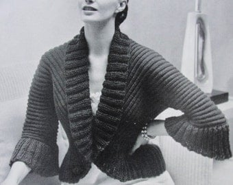 Knitted bed jacket Etsy