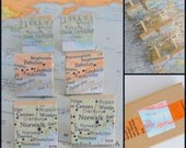 Custom Map Scrabble Tile Cufflinks, YoU Choose the special city in your heart