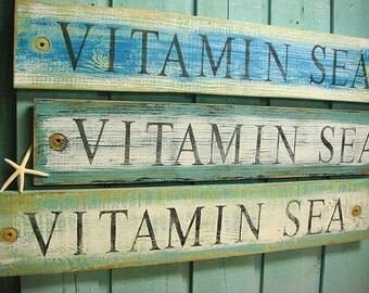 Beach House Sign Decor Wall Art - Vitamin Sea