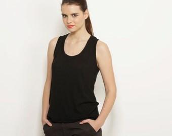 Black tank top  women,  shirt sport blouse summer fashion