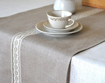 Popular items for natural linen runner on Etsy