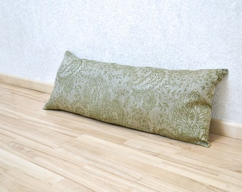 Lumbar Olive Green Pillow Cover Linen Pillow Case Damask Decorative Case  Throw Pillow Linen Pillow Shams